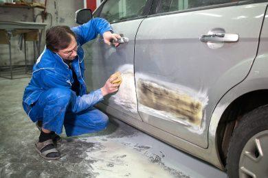 Подготовка к покраске автомобиля